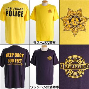 米国着用禁止Tシャツ ラスベガス警察 L