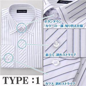 スタイリッシュ ホワイト艶ドレスシャツ3種セット(ネクタイ&チーフ付)Y008、N008 L