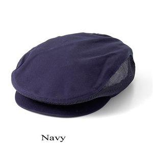 MARC by MARC JACOBS(マークバイバークジェイコブス) メッシュニュースボーイ コットンハンチング Navy