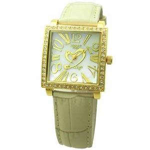 COGU(コグ) 腕時計 Ryo リョウ スクエアシリーズ ゴールドケース アイボリー RYO1206G-G1IV レディースウォッチ