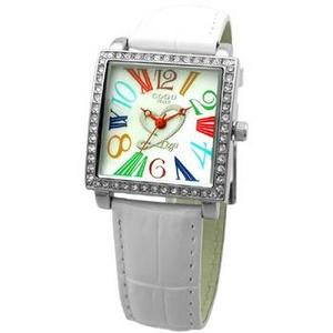 COGU(コグ) 腕時計 Ryo リョウ スクエアシリーズ カラフルインデックス ホワイト RYO1206S-C1W レディースウォッチ