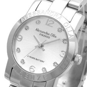 Alessandra Olla(アレサンドラオーラ)腕時計 ラウンドフェイス レディースウォッチ AO-712 シルバー
