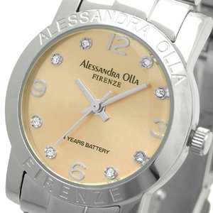 Alessandra Olla(アレサンドラオーラ)腕時計 ラウンドフェイス レディースウォッチ AO-715 ピンクゴールド