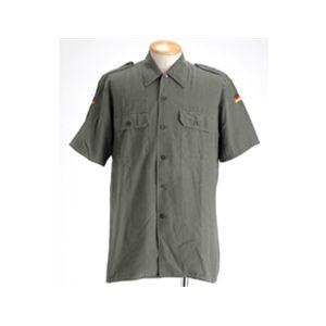 デッドストック 後染めドイツ軍BWフィールドワークシャツ アーミーグリーン