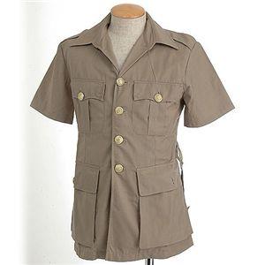 イギリス軍金ボタンサファリデッドストックシャツ