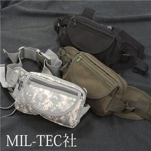 MIL-TEC社 ドイツ軍防水布ヒップバック レプリカ ML1351-213124 ブラック