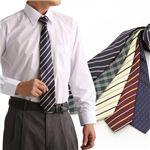 ネクタイ5本セットおまけワイシャツつき シャツ1枚+ネクタイ5本セット L