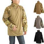 COMBAT ハーフジップシャツ マルチカモ Lサイズ