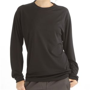スポーツ吸汗速乾ロング袖Tシャツ 2枚SET ブラック Lサイズ