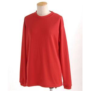 スポーツ吸汗速乾ロング袖Tシャツ 2枚SET レッド XLサイズ