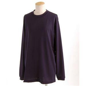 スポーツ吸汗速乾ロング袖Tシャツ 2枚SET ネイビー XXLサイズ