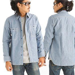 CAB CLOTHING シャンブレーシャツ Mサイズ