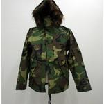 アメリカ軍ECWCS-1ジャケット復刻版 ファー付き MM-10411 ウッドランドカモ S (日本サイズM)