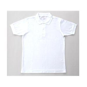 無地鹿の子ポロシャツ ホワイト SS