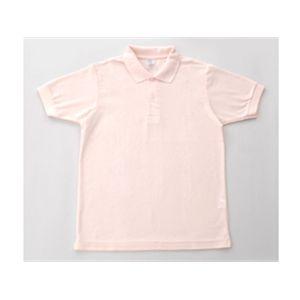 無地鹿の子ポロシャツ ソフトピンク 5L