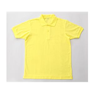無地鹿の子ポロシャツ イエロー 5L
