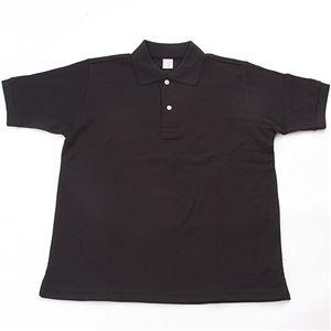 ドライメッシュアクティブ半袖ポロシャツ ブラック L