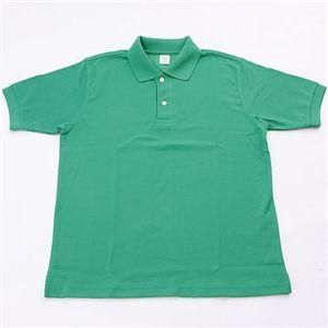 ドライメッシュアクティブ半袖ポロシャツ グリーン LL