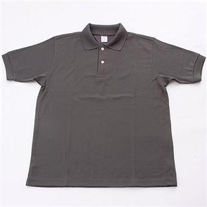 ドライメッシュアクティブ半袖ポロシャツ ダークグレー L