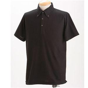 クールビズ BDドライポロシャツ ブラック XL