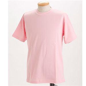 ドライメッシュTシャツ 2枚セット 白+ソフトピンク 3L