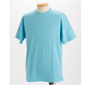 ドライメッシュTシャツ 2枚セット 白+サックス 3L