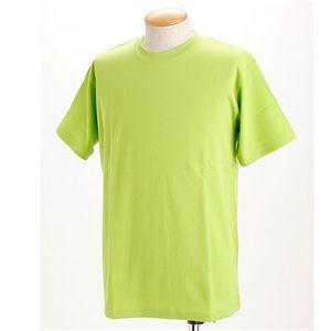 ドライメッシュTシャツ 2枚セット 白+アップルグリーン LL
