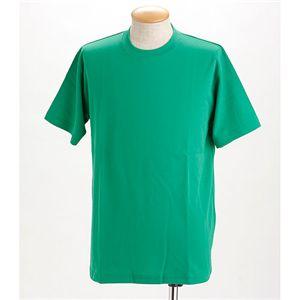 ドライメッシュTシャツ 2枚セット 白+グリーン 3L