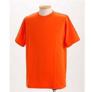 ドライメッシュTシャツ 2枚セット 白+オレンジ M