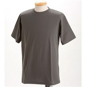 ドライメッシュTシャツ 2枚セット 白+ダークグレー L