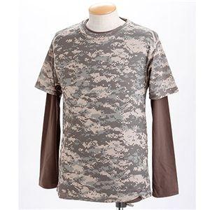 ドライクール ナイスカモフラ半袖Tシャツ&ロングTシャツ2枚 セット ACU M