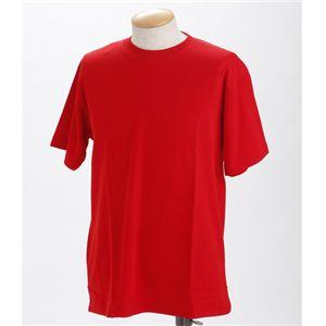 ドライメッシュポロ&Tシャツセット レッド 3L