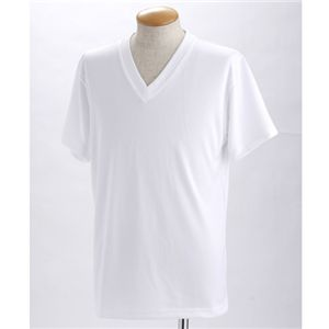 ドライクールファースト立体裁断 Vネック&Uネック Tシャツ2枚セット ホワイト XL