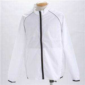 撥水透湿スポーツリフレクタージャケット  ホワイト S