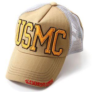 HOUSTON USMCメッシュキャップ カーキ
