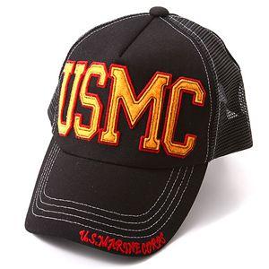HOUSTON USMCメッシュキャップ ブラック