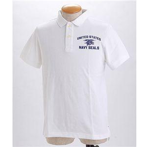 HOUSTON ミリタリーポロシャツ 【20395】 ホワイト L