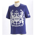 「ZEKOO」5分袖Tシャツ ミッドナイトブルーM