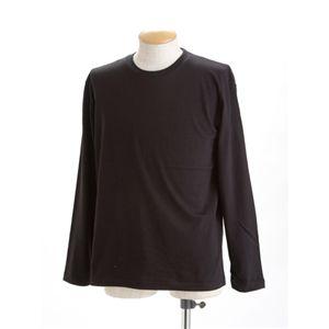 ユニセックス長袖Tシャツ L ブラック