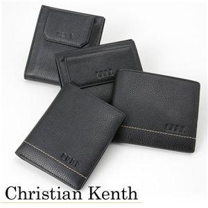 Christian Kenth(クリスチャンキース) レザーウォレット カードケース付き横長ウォレット チョコ