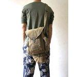 イタリア軍放出  ガスマスクショルダーバッグ BS115UN カーキ 【中古】