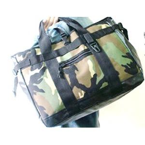 アメリカ軍 トートバッグ/鞄 【 25L 】 ポリエステルキャンバス地/ラバー 防水加工 BH062YN ブラック 【 レプリカ 】