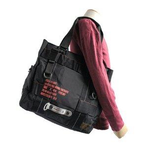 フライングボディパラシュートミリタリートートバッグ BH066YN ブラック
