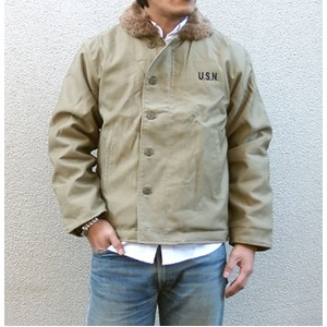 USタイプ 「N-1」 DECK ジャケット JJ105YN カーキ 36(M)サイズ 【レプリカ】