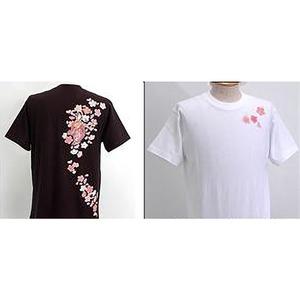 浮き出る立体プリント和柄!幸せの七福神Tシャツ (半袖) 1998・弁財天 黒 L