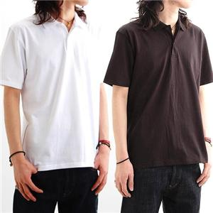 背中で語れる スカ柄ポロシャツ 2010・桜日本地図 黒 XL