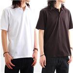 背中で語れる スカ柄ポロシャツ 2010・桜日本地図 黒 M