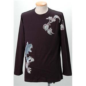 語れる立体和柄ロングTシャツ S-1300/登鯉 L