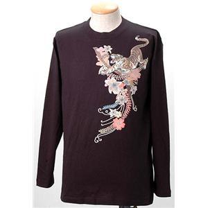 語れる立体和柄ロングTシャツ S-1976/花虎 M
