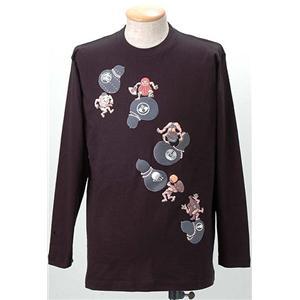 語れる立体和柄ロングTシャツ S-1979/瓢箪とっくり L